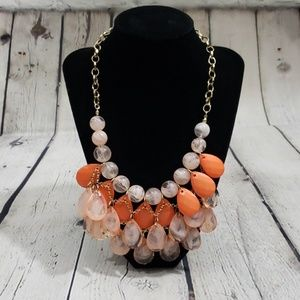 PEACH & PINK STATEMENT NECKLACE
